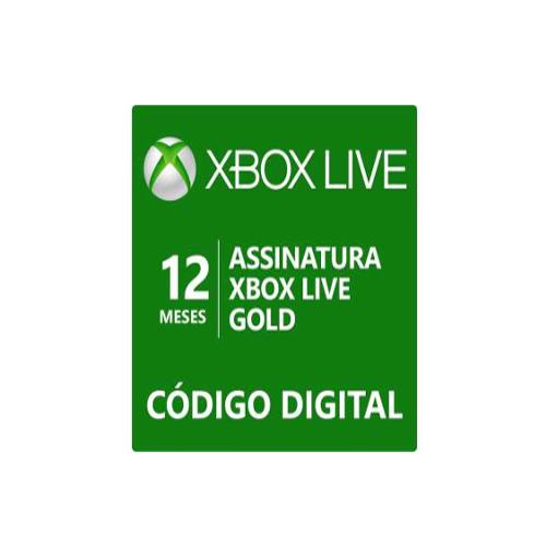 Assinatura Xbox Live Gold (Código digital)