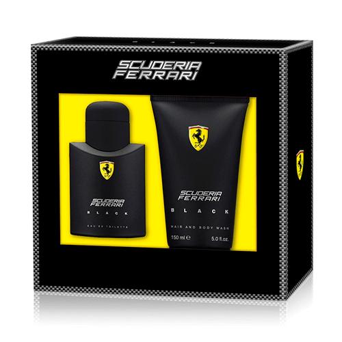 Coffret Ferrari Black Eau De Toilette 75ml + Gel Para Banho 150ml