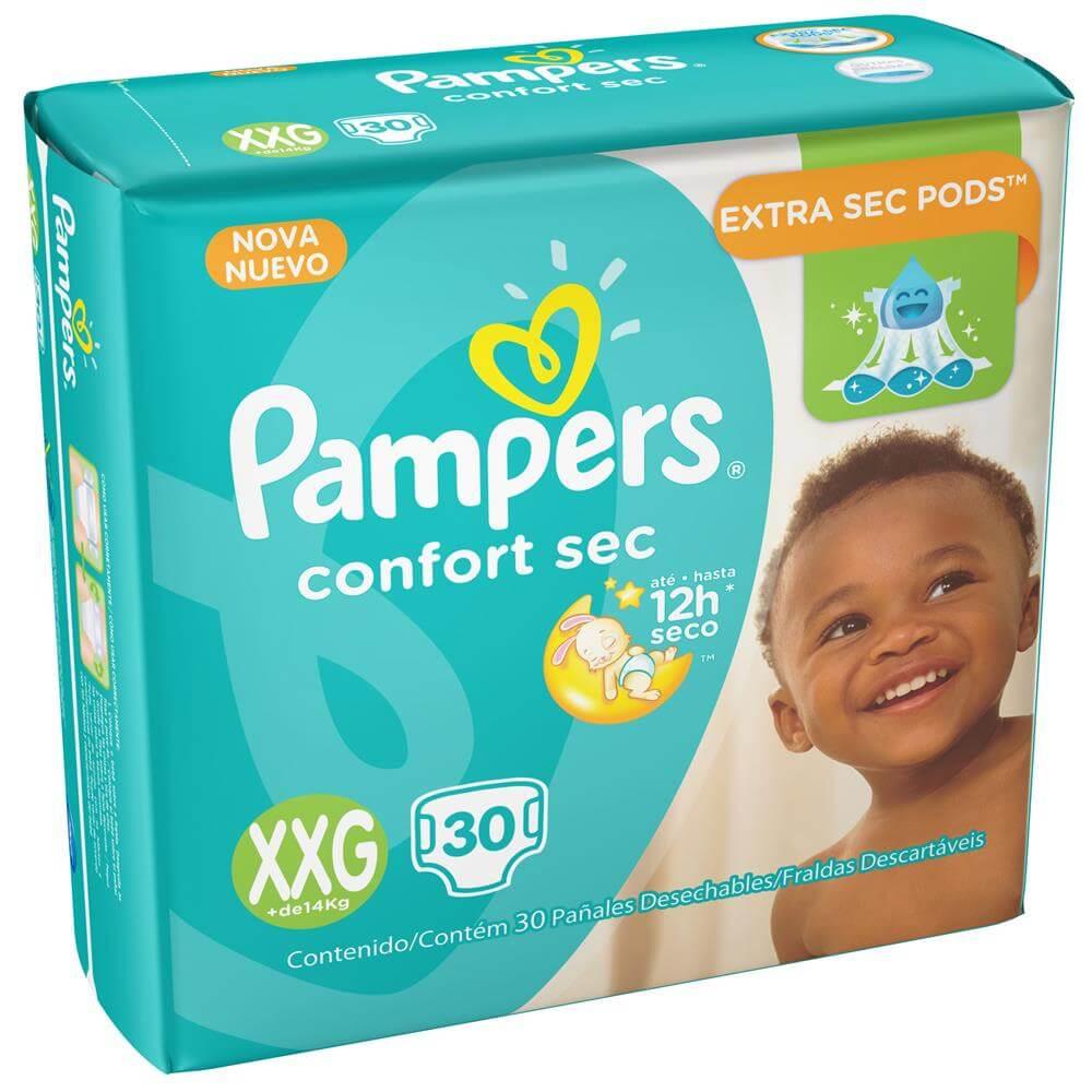 Fralda Pampers Confort Sec Mega XXG - 30 Unidades