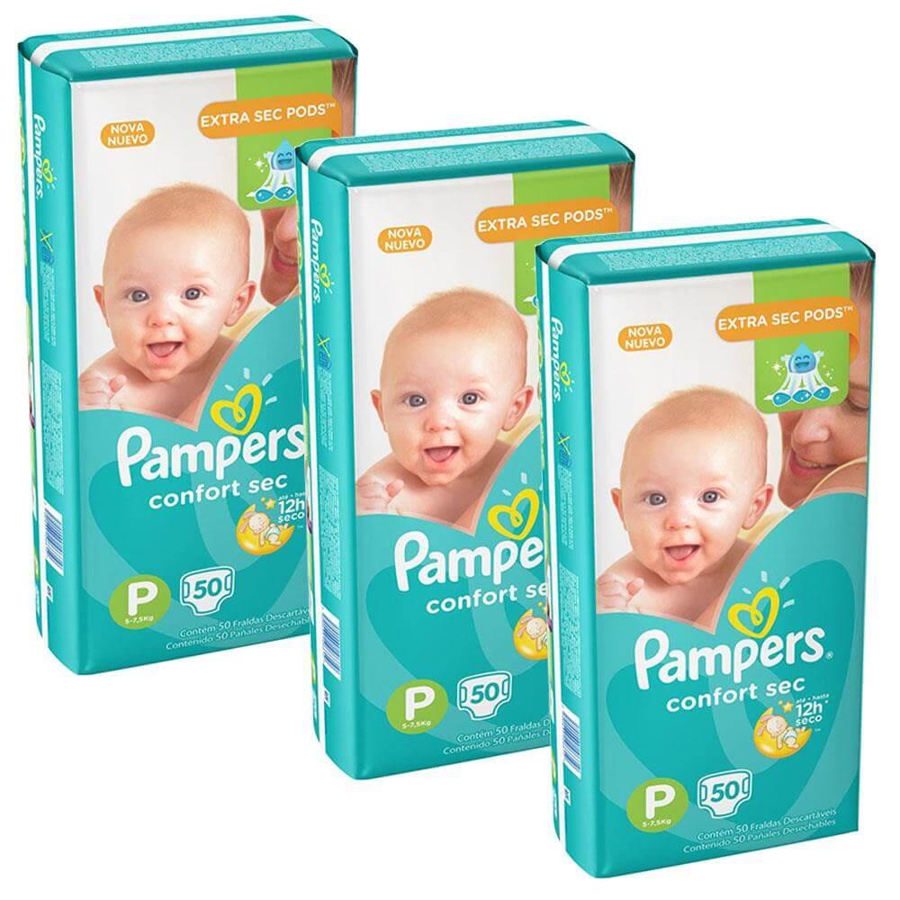 Fralda Pampers Confort Sec Tamanho P 150 Unidades
