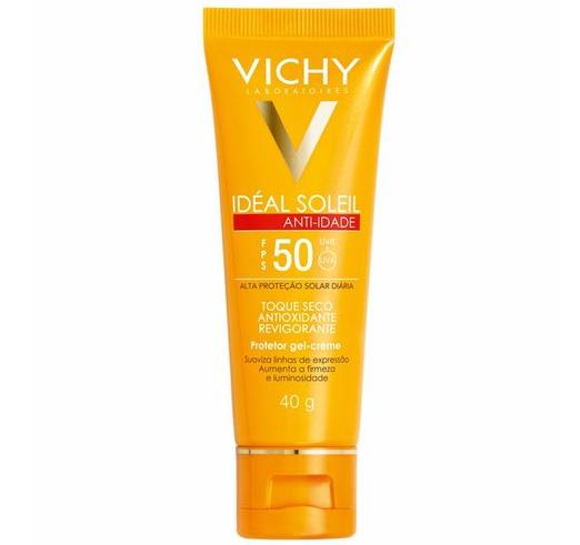 Gel Creme Vichy Ideal Soleil Anti-Idade FPS50 40g