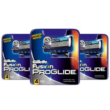 Kit Anual Gillette Proglide: 12 Cargas Gillette Proglide
