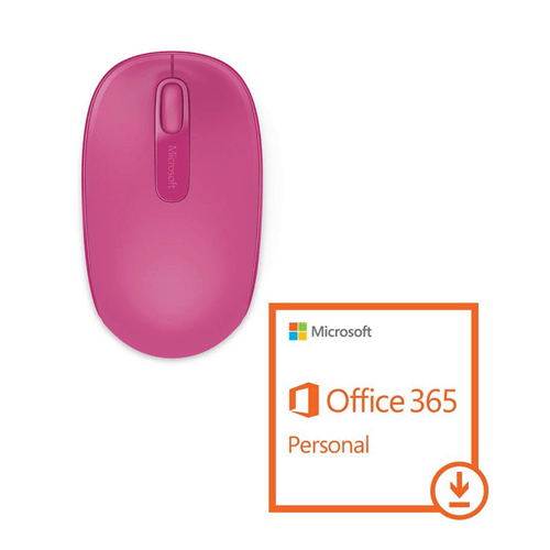 Mouse Wireless Rosa Magenta + Pacote Office 365 Personal Download