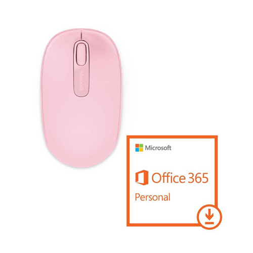 Mouse Wireless Rosa + Pacote Office 365 Personal Download