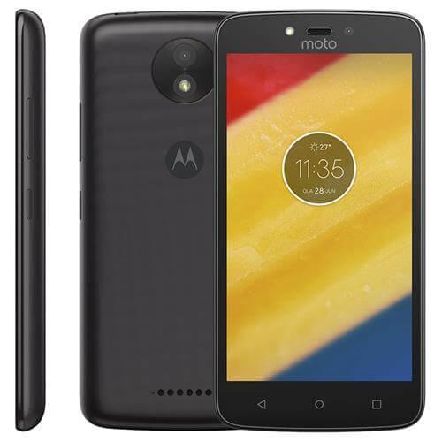 Smartphone Motorola Moto C Plus, Preto, XT1726, Tela de 5
